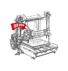 plastic 3d printer vector image