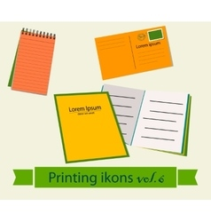 Print icons set6 vector image