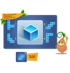 Puzzle game make the cube vector