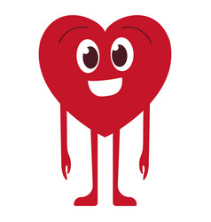 Red smiling heart vector