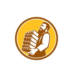 Saint Jerome Carrying Books Retro vector image