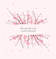 sakura branch decoration vector image