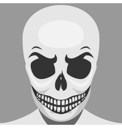 Scary Skeleton Monster for Halloween vector image