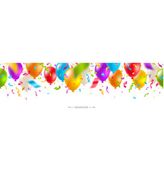 seamless banner with multicolored balloons vector image