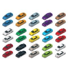 Sedan Car Sedan automobile Flat isometric high vector image