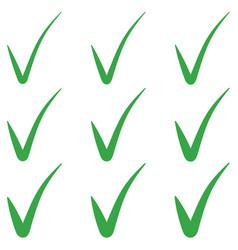 set tick green checkmark correct mark checkbox vector image
