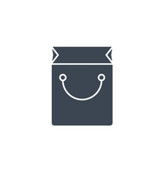 shopping bag related glyph icon vector image