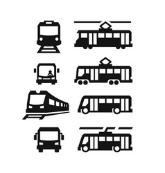 sity transport symbols vector image