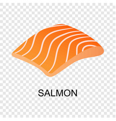 slice of salmon icon isometric style vector image