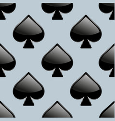 spades seamless pattern vector image