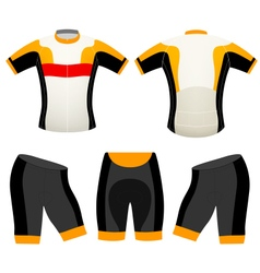 Sports cycling vest vector