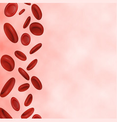 streaming blood cells vector image