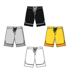 swimming trunks icon in cartoonblack style vector image
