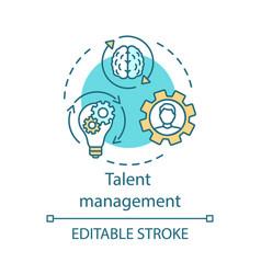 Talent management concept icon vector