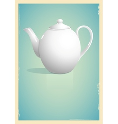 Teapot in retro style vector image