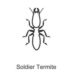 Termite iconline icon isolated on vector