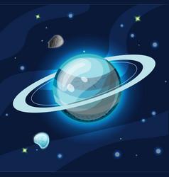 Uran cartoon blue uran vector