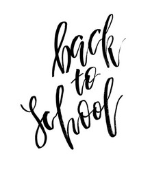 welcome back to school lettering text logo vector image
