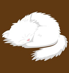 White dog vector