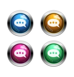 Chat buttons vector image vector image