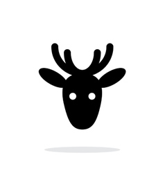 Christmas deer icon on white background vector image vector image