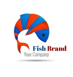 fish icon logo Creative colorful abstract vector image