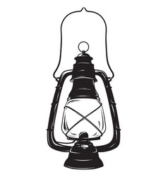 grunge sketch vintage oil lantern kerosene lamp vector image