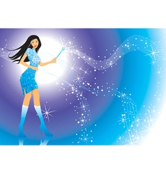 Magic Girl vector image vector image