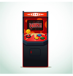 retro arcade machine isolated on white video game vector image vector image