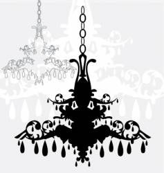 simple chandelier graphic vector image