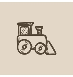 Toy train sketch icon vector image