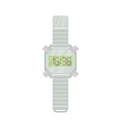Wrist digital watch icon cartoon style vector image