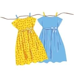 Baby dress vector image
