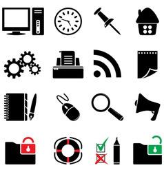computer icon set vector image vector image