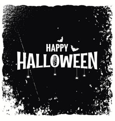 happy halloween banner design background vector image vector image