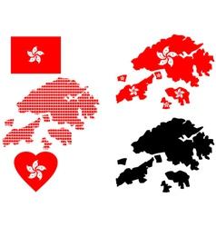 Hong Kong map vector image
