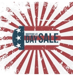 Independence Day 4th of July Sale Holiday Label vector image vector image
