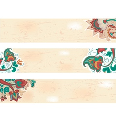 russian pattern background vector image vector image