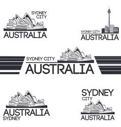 Sydney city set vector image