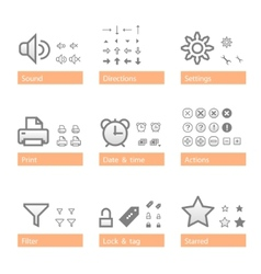 universal software icon set addition part vector image