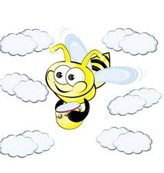 worker bee cartoon vector image