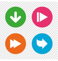 arrow icons next navigation signs symbols vector image