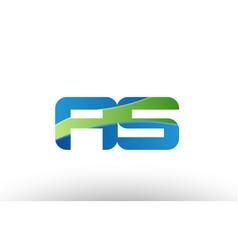 blue green as a s alphabet letter logo vector image vector image
