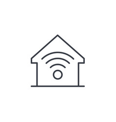 Smart home wireless technology digital house vector