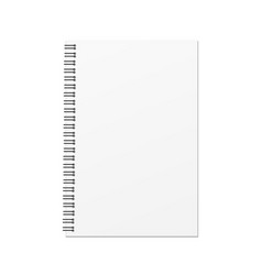 blank hard cover book template vector image