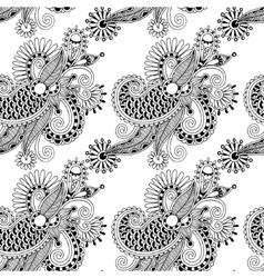 digital drawing black and white ornate seamless vector image vector image