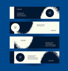 horizontal creative flyers set grunge dark blue vector image vector image