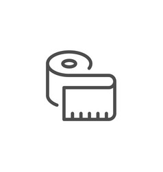measuring tape line icon vector image vector image