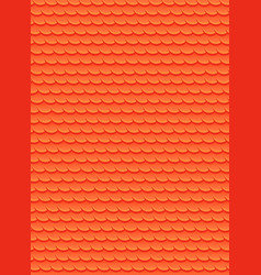 seamless texture with red fish scales background vector image