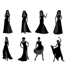 Silhouette of the woman vector image